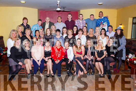 The staff of Our Lady of Lourdes Nursing home Kilcummin on their Christmas party in the Village Inn on Friday night