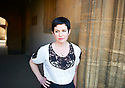 Sarah Hall, novelist and writer  at The Oxford Literary Festival at Christchurch College Oxford  . Credit Geraint Lewis