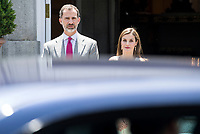 Spanish Royals Host Official Lunch for Portuguese President Marcelo Rebelo de Sousa.