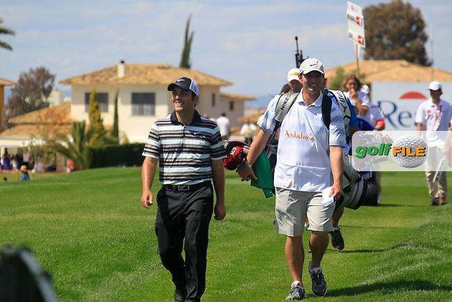 Francesco Molinari (ITA) walks down the 18th hole during Sunday's Final Round of the Open de Espana at Real Club de Golf de Sevilla, Seville, Spain, 6th May 2012 (Photo Eoin Clarke/www.golffile.ie)