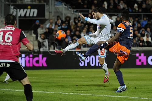 29.11.2013. Marseilles, France. French League 1 football. Marseilles versus Montpellier.  Gignac (OM)