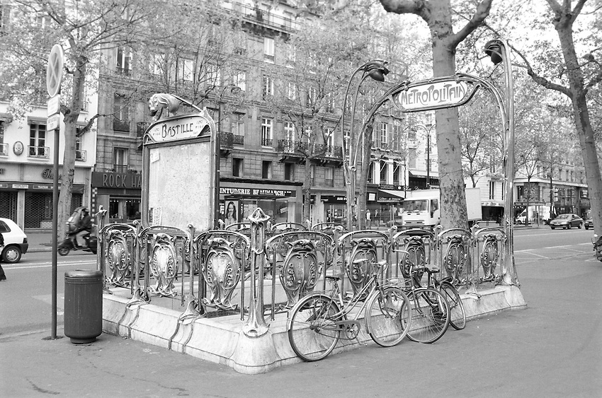 City of Paris, Metro Bastille Station entrance.