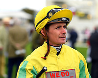 Jockey Kieran O'Neil during Evening Racing at Salisbury Racecourse on 3rd September 2019