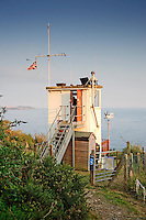 Charlestown coastwatch point,  St Austell Bay, Cornwall....Copyright..John Eveson, Dinkling Green Farm, Whitewell, Clitheroe, Lancashire. BB7 3BN.01995 61280. 07973 482705.j.r.eveson@btinternet.com.www.johneveson.com