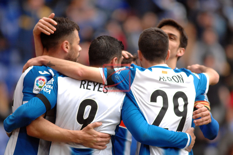 League Santander 2016/2017. Game: 19.<br /> RCD Espanyol vs Granada CF: 3-1.