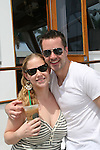John Driscoll and girlfriend Beth - 11th Annual SoapFest - Actors take a break on the Ramblin' Rose with Ken as the captain on May 2, 2009 on Marco Island, FLA. (Photo by Sue Coflin/Max Photos)
