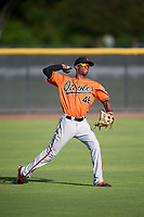 Baltimore Orioles Jaylen Ferguson (48) during practice before an Instructional League game against the New York Yankees on September 23, 2017 at the Yankees Minor League Complex in Tampa, Florida.  (Mike Janes/Four Seam Images)