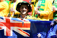 KAZAN - RUSIA, 16-06-2018: Un hicha de Australia es visto durante el partido de la primera fase, Grupo C, en Kazan Arena, Kazán, entre Francia y Australia por la Copa Mundo FIFA 2018 Rusia. / A fan of Australia is seen during match of the first stage - Group C, Kazan Arena in Kazan, between France and Australia as part of the 2018 FIFA World Cup Russia. Photo: VizzorImage / Julian Medina / Cont