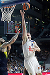 Real Madrid's Jonas Maciulis (r) and Fenerbahce Istambul's Pero Antic during Euroleague, Regular Season, Round 29 match. March 31, 2017. (ALTERPHOTOS/Acero)