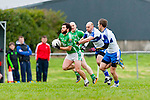 Cieran Kelleher Milltown/Castlemaine sprints away from Mike Brosnan and Maurice Hickey Castleisland Desmonds during their division one league game in Milltown on Saturday