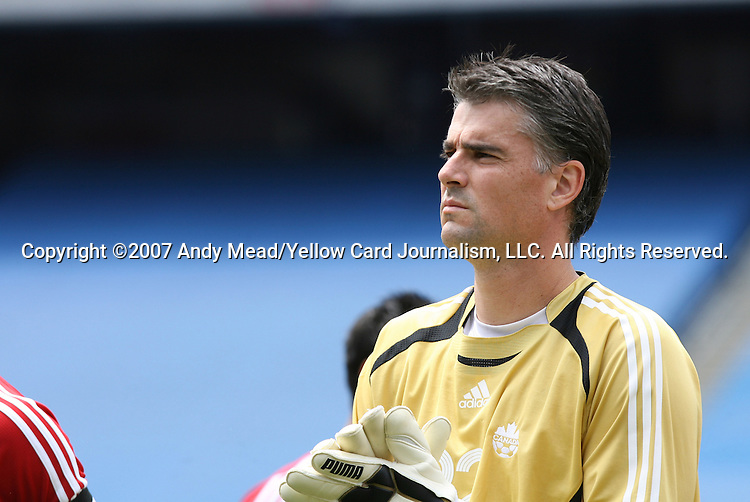 16 June 2007: Canada's Patrick Onstad. The Canada Men's National team defeated the Guatemala Men's National Team 3-0 at Gillette Stadium in Foxboro, Massachusetts in a 2007 CONCACAF Gold Cup quarterfinal.