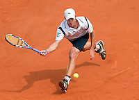 25-05-10, Tennis, France, Paris, Roland Garros, First round match, Andy Roddick