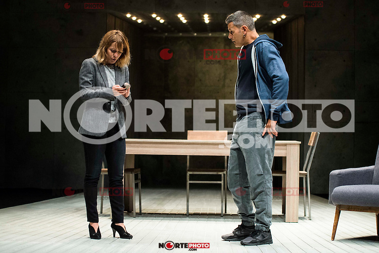 "Maria Adanez and Roberto Enriquez during the theater play of ""El Pequeño Poni"" at Teatro Bellas Artes in Madrid. August 16, Spain. 2016. (ALTERPHOTOS/BorjaB.Hojas) /NORTEPHOTO"