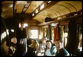 Passengers inside R.R. coach - rail fan trip?<br /> D&amp;RGW