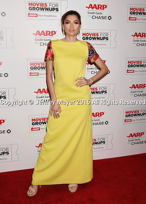 BEVERLY HILLS, CA - FEBRUARY 08: Actress Blanca Blanco attends AARP's Movie For GrownUps Awards at the Regent Beverly Wilshire Four Seasons Hotel on February 8, 2016 in Beverly Hills, California.