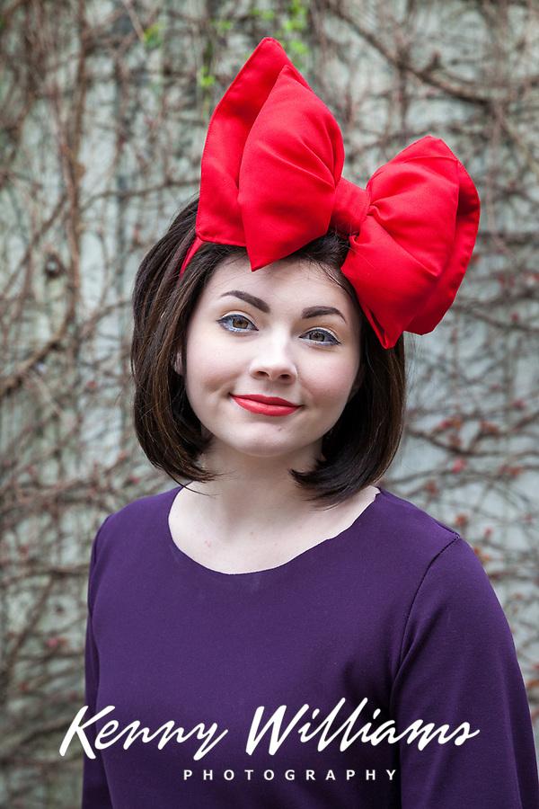 Beautiful Girl in Purple & Large Red Bow, Sakura Con, Seattle, WA, USA.