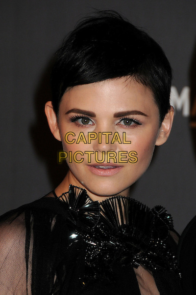 Ginnifer Goodwin.at The LACMA 2012 Art and Film Gala held at LACMA in Los Angeles, California, USA, October 27th 2012..portrait headshot black sheer long sleeve top blouse cut out fan beaded make-up beauty .CAP/ADM/BP.©Byron Purvis/AdMedia/Capital Pictures.