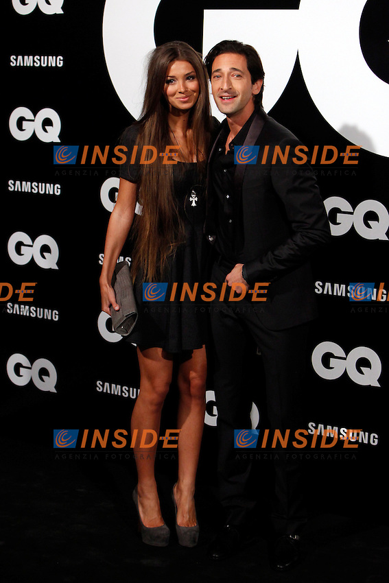 Adrien Brody and Lara Lieto attends GQ Men of the Year 2012 Awards at Palace Hotel on November in Madrid, Spain. November 19, 2012. (ALTERPHOTOS/Caro Marin) .Foto Insidefoto.ITALY ONLY