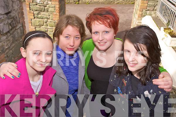Enjoying the KDYS games day in Killarney on Sunday were Aibhi?n O'Neill, Jennifer Egan, Rachel Topham and Aoife O'Shea, Kenmare..
