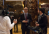 Michael Allen, co-founder and executive editor of AXIOS Media, arrives to Trump Tower on January 17, 2017 in New York City. U.S. President Elect Donald Trump is still holding meetings upstairs at Trump Tower just 3 days before the inauguration.    <br /> Credit: Bryan R. Smith / Pool via CNP