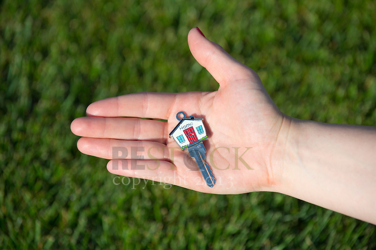 Holding Key to New Home