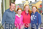 Joe O'Sullivan Beaufort, Caoimhe, Nadia and Danielle Brosnan at the Kfest in Killorglin on Sunday