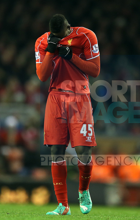 Mario Balotelli of Liverpool - Barclays Premier League - Liverpool vs Swansea City - Anfield Stadium - Liverpool - England - 29th December 2014  - Picture Simon Bellis/Sportimage