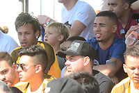 PRAIA GRANDE, SP, 08.07.2017 - NEYMAR-JR - Neymar Jr jogador brasileiro do Barcelona é visto com Gabriel Jesus do Barcelona durante evento Jr's Five no Instituto Neymar Jr. na Praia Grande litoral paulista neste sábado, 08. (Foto: Eduardo Martins/Brazil Photo Press)