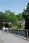 The River Itchen at Winchester, Hampshire, England