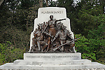 Alabama Memorial, Gettysburg National Military Park, Pennsylvania, USA