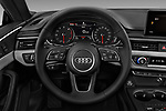 Car pictures of steering wheel view of a 2018 Audi A5 Sportback Premium Plus  5 Door Hatchback