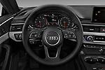 Car pictures of steering wheel view of a 2018 Audi A5 Sportback Premium Plus  5 Door Hatchback