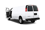 Car images close up view of a 2017 Chevrolet Express 3500 3500 Extended Work Van 4 Door Cargo Van doors
