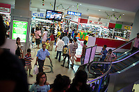 May 14, 2012 - Phnom Penh, Cambodia. People shop in Soraya Mall. © Nicolas Axelrod / Ruom