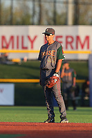 Scott Burcham (22) of the Boise Hawks in the field during a game against the Hillsboro Hops at Ron Tonkin Field on August 21, 2015 in Hillsboro, Oregon. Boise defeated Hillsboro, 7-1. (Larry Goren/Four Seam Images)