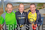 TRI-TEAM: Ger Halloran, Neil Fitzgibbon and Martin Tierney at the Tralee Triathlon Club Event in Fenit on Saturday.