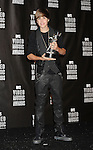 LOS ANGELES, CA. - September 12: Singer Justin Bieber  poses in the press room at the 2010 MTV Video Music Awards held at Nokia Theatre L.A. Live on September 12, 2010 in Los Angeles, California.