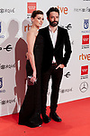 Marta Nieto and Rodrigo Sorogoyen attends to XXV Forque Awards at Palacio Municipal de Congresos in Madrid, Spain. January 11, 2020. (ALTERPHOTOS/A. Perez Meca)