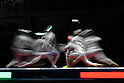 USA vs Italy General View,<br /> AUGUST 13, 2016 - Fencing : <br /> Women's Sabre Team 3rd place match<br /> at Carioca Arena 3 <br /> during the Rio 2016 Olympic Games in Rio de Janeiro, Brazil. <br /> (Photo by Koji Aoki/AFLO SPORT)