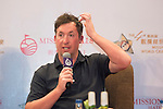 Robbie Fowler speaks during the Football Players Press Conference on the sidelines of the World Celebrity Pro-Am 2016 Mission Hills China Golf Tournament on 22 October 2016, in Haikou, China. Photo by Weixiang Lim / Power Sport Images