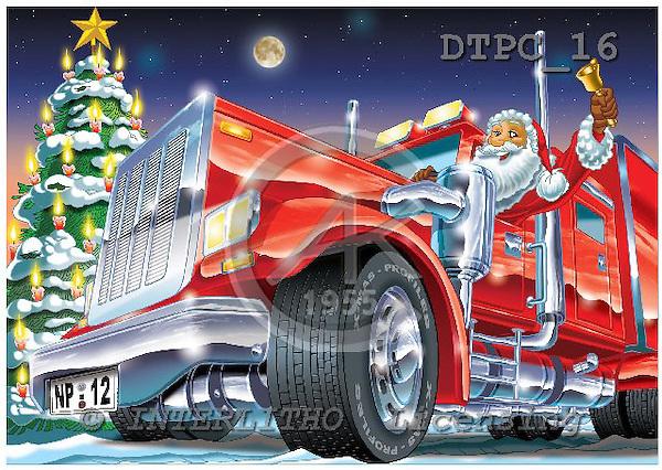 Eberle, Comics, CHRISTMAS SANTA, SNOWMAN, paintings, DTPC16,#X# Weihnachten, Navidad, illustrations, pinturas