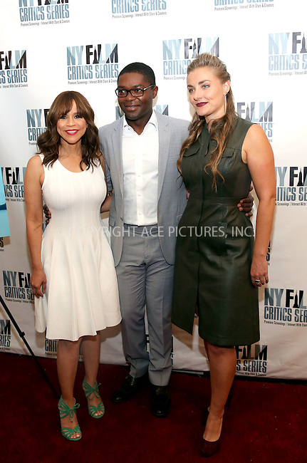 www.acepixs.com<br /> <br /> August 1 2016, New York City<br /> <br /> Actors Rosie Perez (L) and David Oyelowo, and writer, director and producer Maris Curran at the 'Five Nights In Maine' New York Film Critics Screening at the AMC Empire 25 theater on August 1, 2016 in New York City.<br /> <br /> By Line: Serena Xu/ACE Pictures<br /> <br /> <br /> ACE Pictures Inc<br /> Tel: 6467670430<br /> Email: info@acepixs.com<br /> www.acepixs.com