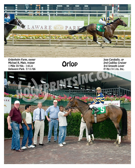 Orlop winning at Delaware Park on 7/11/06