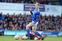 Flynn Downes of Ipswich Townand Jorge Grant of Lincoln City during Ipswich Town vs Lincoln City, Emirates FA Cup Football at Portman Road on 9th November 2019