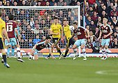 19/04/2016 Sky Bet League Championship  Burnley v Middlesbrough<br /> Michael Keane clears