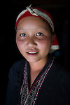 Red Dzao ethnic Hmong tribe woman, Northern Vietnam