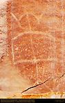Fremont Culture Petroglyphs, Anthropomorph in Headdress (before loss of lower flake), Fruita Petroglyph Panels, Capitol Reef National Park, South-Central Utah