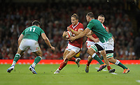Wales Hallam Amos looks for a way through<br /> <br /> Photographer Ian Cook/CameraSport<br /> <br /> 2019 Under Armour Summer Series - Wales v Ireland - Saturday 31st August 2019 - Principality Stadium - Cardifff<br /> <br /> World Copyright © 2019 CameraSport. All rights reserved. 43 Linden Ave. Countesthorpe. Leicester. England. LE8 5PG - Tel: +44 (0) 116 277 4147 - admin@camerasport.com - www.camerasport.com