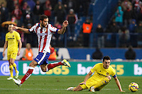 Mario Suarez of Atletico de Madrid and of Villarreal during La Liga match between Atletico de Madrid and Villarreal at Vicente Calderon stadium in Madrid, Spain. December 14, 2014. (ALTERPHOTOS/Caro Marin) /NortePhoto