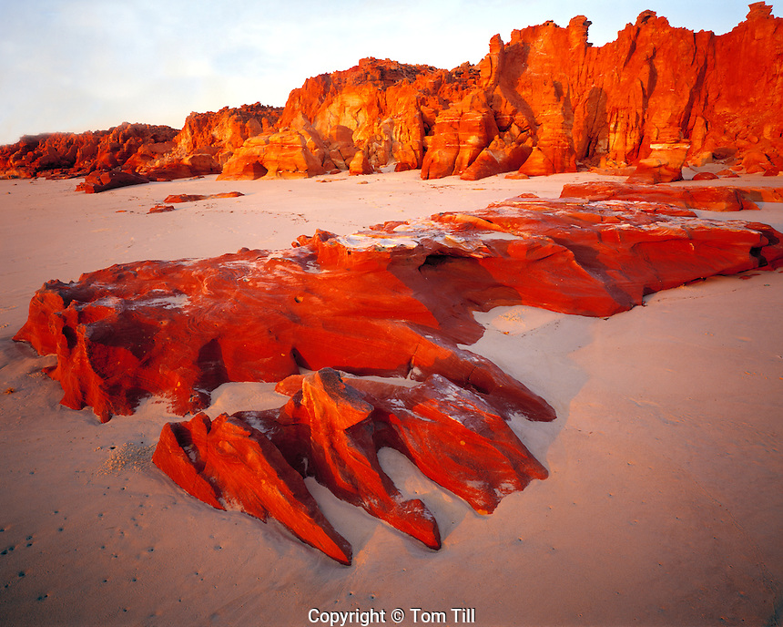 Redrocks and Beach at Sunset, Cape Leveque, KImberley Region, Western Australia
